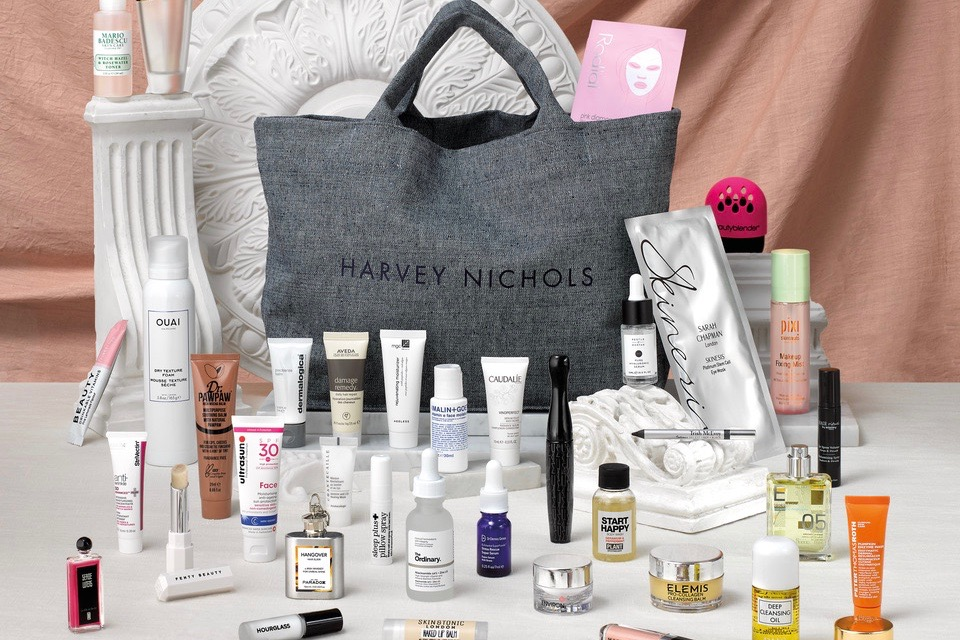 Harvey Nichols has launched a limited-edition bag filled with beauty products
